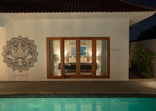 Villa ABSOLUTE – View of the Prana room by night